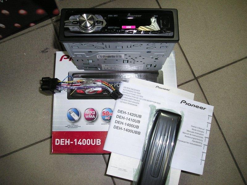 Автомагнитола Pioneer DEH-1400UB, Магнитола Pioneer DEH-1400UB