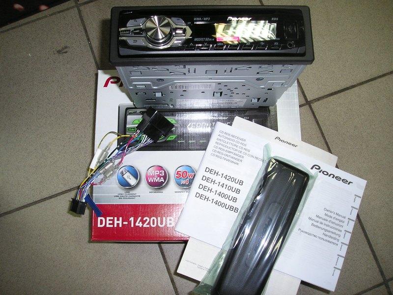автомагнитола pioneer 1420ub инструкция подключения